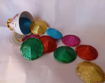 Bulk Burlesque Circle Nipple Pasties - Size 7cm Blue/Green/Pink/Gold/Red