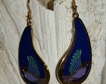 Laurel Burch earrings, vintage earrings, vintage Laurel Burch