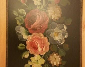 Vintage tole painting