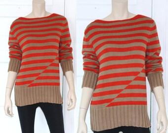 Vtg striped color block J Crew sweater - small or medium