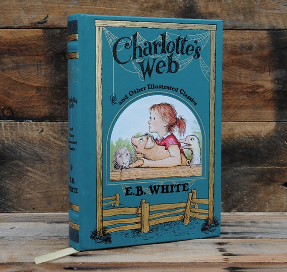 Hollow Book Safe - Charlotte's Web - Leather Bound