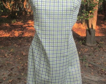 1960s knit shift dress medium size
