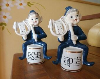 Vintage Pixie Elf Salt and Pepper Shakers
