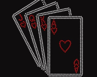 Poker Rhinestone Iron on Transfer TB1X