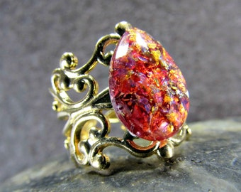 Red Opal Ring