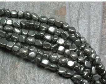 "SALE Pyrite Nugget Beads, 15.5"" strand - Item B0574"