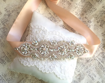 Bridal sash, Rose gold wedding sash belt, Wedding Sash Rose Gold, Bridal Sash Belt, Rose Gold Wedding Belt, Crystal bridal sash belt