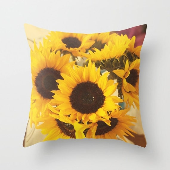 Sunflowers Pillow Cover Indoor Throw Pillow Cover Throw