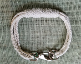 Bridal Mainely Rope Dog Collar Large