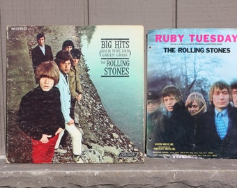 Vintage Rolling Stone High Tide and Green Grass LP Album and Ruby Tuesday sheet music Gideon Music Inc.