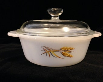 Fire King Mini Casserole Dish with Cover