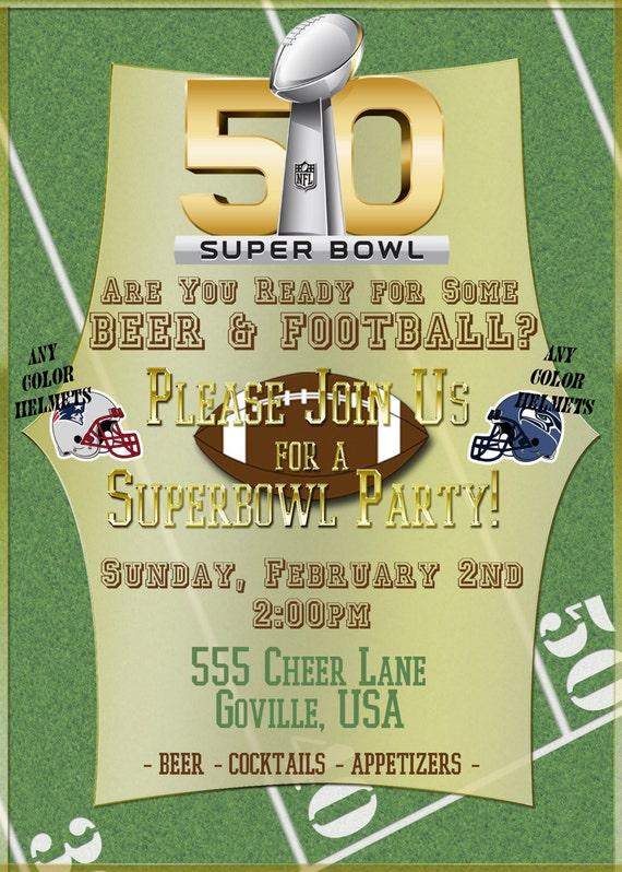 super bowl party invitations templates