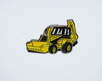 JCB Digger Pin Badge - Yellow Enamel