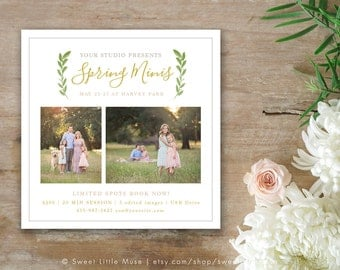 Spring Mini Session Template - mini session template - 5x5 photography marketing template