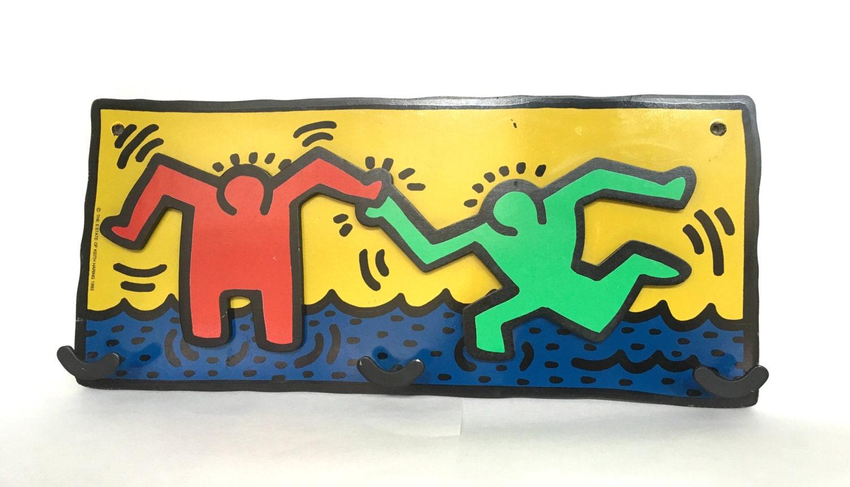 Rare Vintage 1993 Keith Haring Wall Hang Pop Art Hat Rack / Coat ...