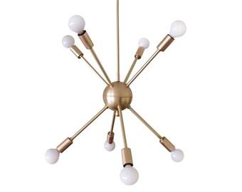 Atomic 8 arm Sputnik Starburst Ceiling Light