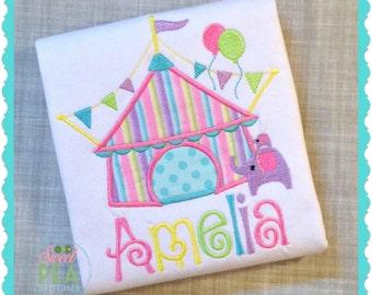 Circus Birthday Shirt - Personalized Circus Shirt - Circus Tent Shirt- Girls Circus Birthday-Carnival Shirt- Carnival Birthday- Circus Party