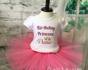Personalized Birthday Princess Tutu Outfit. Party Outfit. Princess Birthday. Birthday Princess. Princess party.