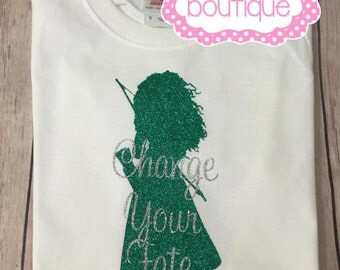 Change your fate children's tee. Merida shirt. Brave shirt. Archer shirt. Princess shirt.