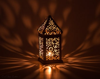 Vintage Gold Moroccan Lantern-Wedding Metal Lantern Centerpiece-Morocco decor-Gold Candle Holder-Arabic Decor-Dubai Wedding Decor