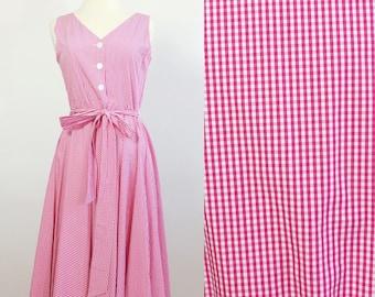 Gingham dress  / pink gingham  / 50s style dress / dress 4