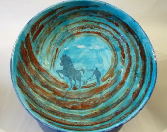 The Dark Plough Handmade Ceramic Fruit Bowl