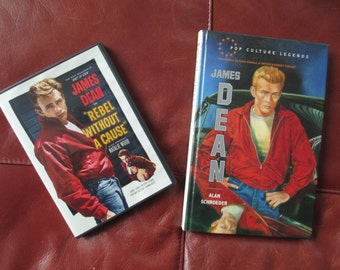 JAMES DEAN (Pop Culture Legends) Book and Rebel Without a Cause DVD 1950's Movie idol and heart throb