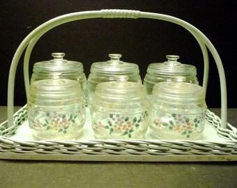 Final Clearance ~1930-40's Krueger Glass Baby Dresser/Vanity Set ~hand painted
