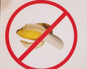 No Bananas Decal, banana, superstition, no bananas on boats