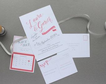 Printed Wedding Stationary, Modern Calligraphy