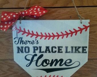 No place like home baseball sign