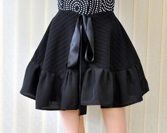 Black Bustle Belt Ruffles lace skirt belt Circle bustle Victorian inspired bustle skirt steampunk skirt bel Gothic style, burlesque style