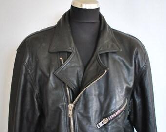 Vintage TORELLI MEN'S BIKER leather jacket , motorcycle leather jacket ....(026)