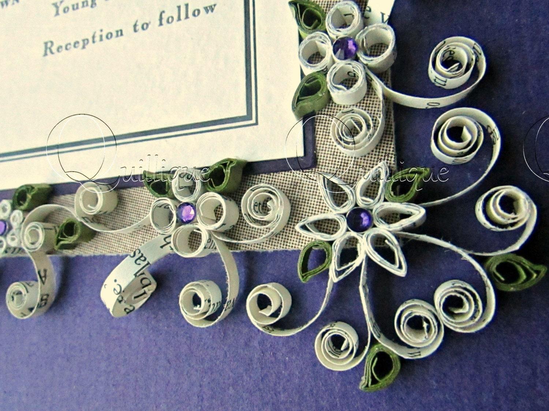 Personalised Wedding Gifts Vintage : Custom Wedding Gift / Vintage /Quilled & Framed Wedding