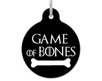 Game Of Bones Pet ID Tag | FREE Personalization