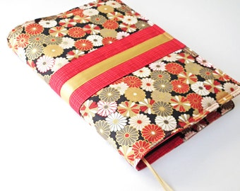 A5 'Kimono' Planner Cover, Fits Hobonichi Cousin, Notebook Cover, Journal Cover, Fabric Cover, Japanese Cotton Fabric, UK Seller