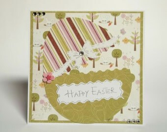 Easter Greeting Card With Easter Egg