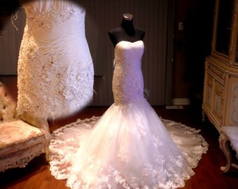Lace wedding gown, Lace wedding dress, plus size wedding dress available