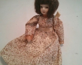 Vintage Creepy Small Porcelain Doll