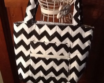 Black Chevron Handbag on sale
