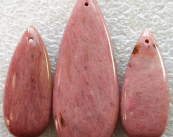 Natural,  Rhodochrosite Gemstone, 50mm Pendant and  Earring Set