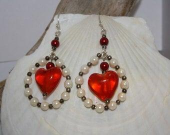 Encircled Heart Earrings