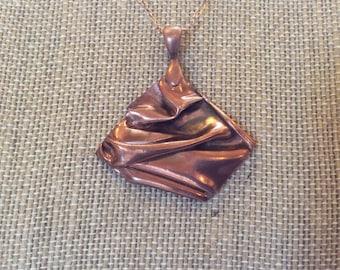 Copper Metal Clay Necklace