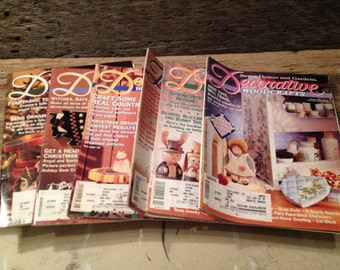 Vintage Decorative Woodcrafts books, One full year 1993, Six Issues, Better Homes and Gardens.