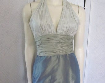 "1990s Silk Halter Dress, Designed by ""Kay Unger,"" Size 4"