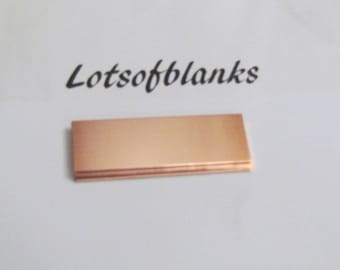 5/8 x 2 Copper blanks//Copper Rectangles//22G -Hand stamping Blanks//Placement setting tags//Jewelry blanks//Metal Blanks/ Id Blanks