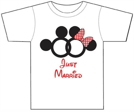 mickey and minnie just married shirts