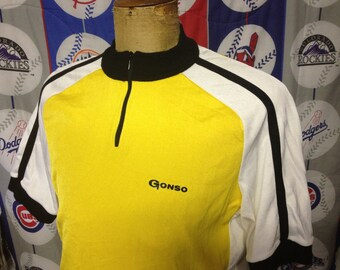 Gonso Wool Cycling Jersey Retro Mens Vintage Bike Top Size XXL 80's