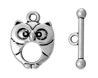 Owl Lovers Toggle Clasps