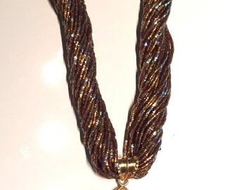 ON SALE! Turkish Seed Bead Statement Necklace